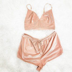 TWO PIECE Lounge Ribbed Velvet Sleep Set